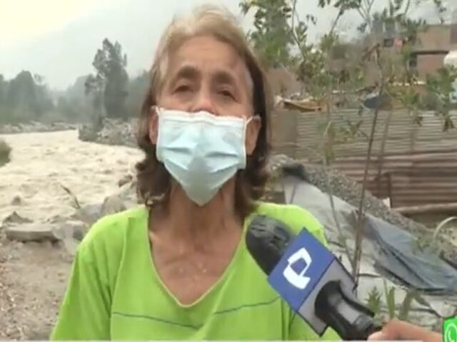 Chosica: Incremento de caudal del río Rímac pone en peligro a pobladores de las riberas