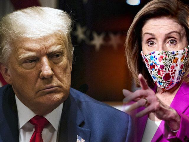 """Nancy Pelosi amenaza a Trump con el """"impeachment"""""""