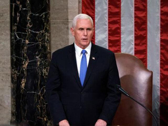 Vicepresidente Mike Pence asistirá a investidura de Joe Biden pese a la ausencia de Trump