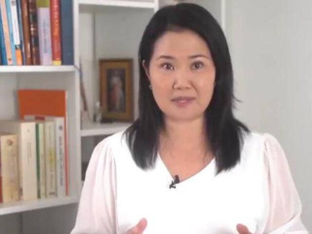 Keiko Fujimori rediseña campaña y suspende concentraciones públicas por covid-19