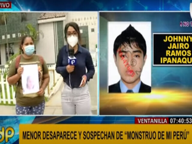 """Ventanilla: menor desaparece y sospechan de sujeto conocido como """"monstruo de Mi Perú"""""""