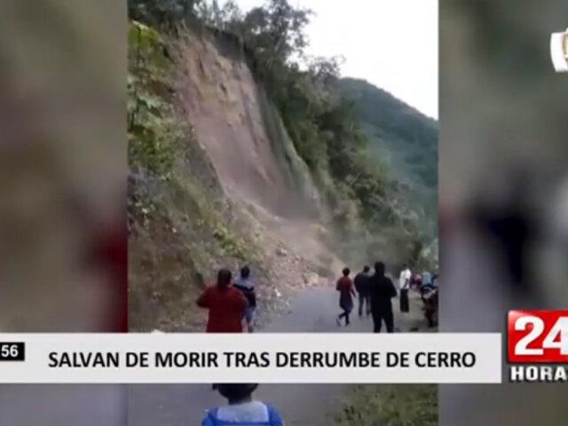 Junín: cerro se derrumbó tras constantes lluvias