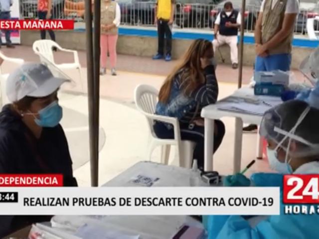 Independencia: realizan pruebas de descarte contra la COVID-19