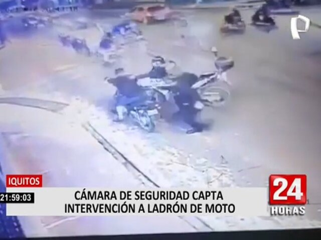 Iquitos: PNP captura en flagrancia a ladrón de motos