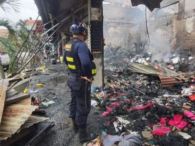 Tarapoto: incendio de grandes proporciones arrasa con cuatro locales comerciales