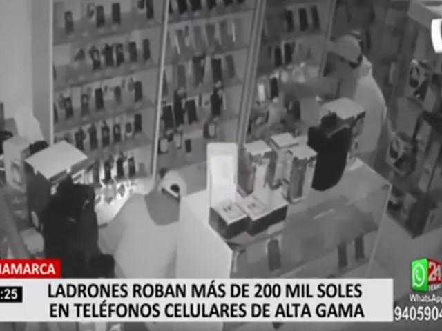 Cajamarca: ladrones roban celulares valorizados en más de 200 mil soles