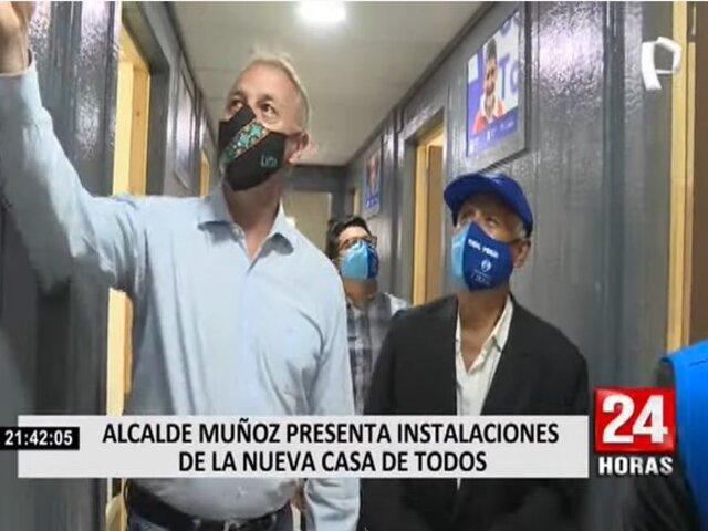 La Casa de Todos: Alcalde Muñoz presenta instalaciones de nuevo local que será permanente