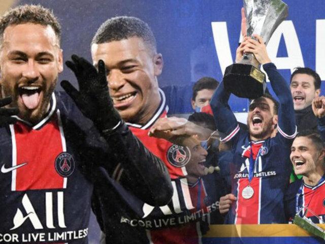 PSG ganó la Supercopa francesa ante el Marsella