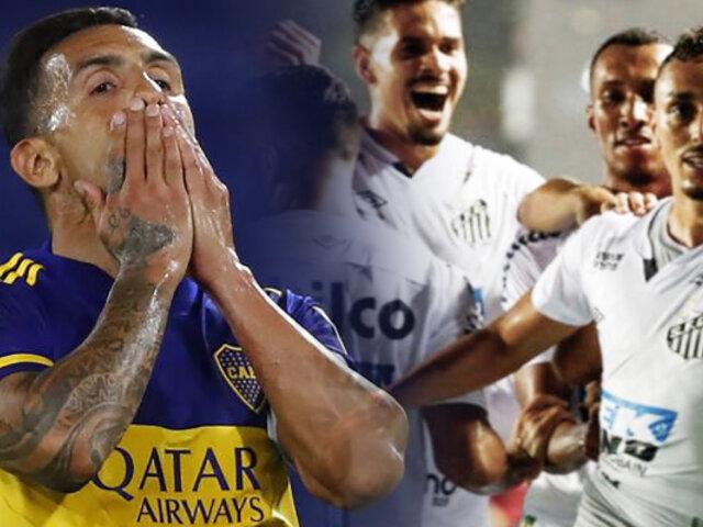 Boca fue goleado 3-0 por Santos y quedó eliminado la Copa Libertadores