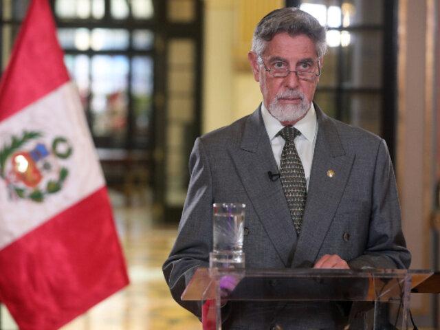 Presidente Francisco Sagasti ofrecerá mensaje a la nación esta noche