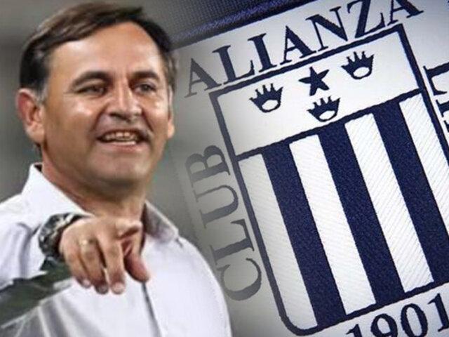 Alianza Lima anunció a Carlos Bustos como su nuevo DT