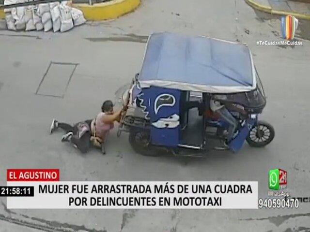 El Agustino: mujer fue arrastrada por delincuentes en mototaxi