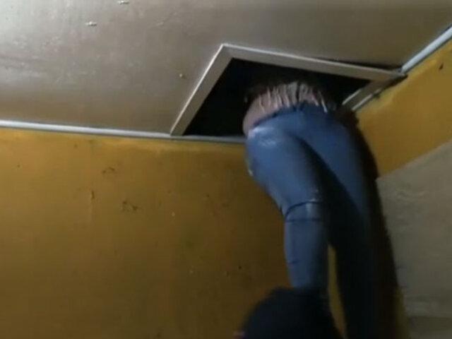 """Huancayo: asistentes a fiesta se esconden en un """"falso techo"""" para evitar ser intervenidos"""