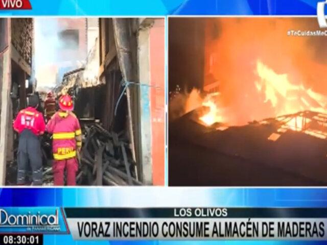 Los Olivos: piden clausura definitiva de taller de maderas tras voraz incendio