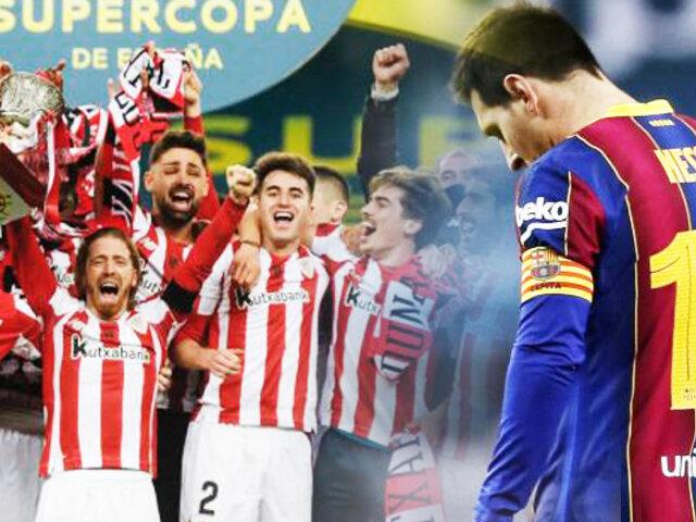 Barcelona pierde la final y el Athletic Bilbao se llevó la Supercopa de España
