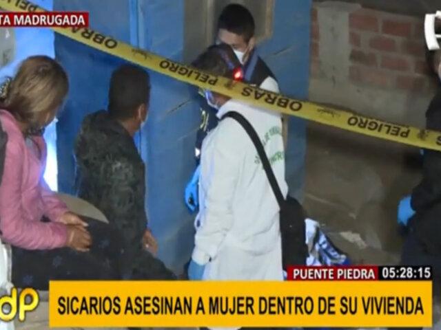 Puente Piedra: mujer es asesinada a balazos al interior de su vivienda
