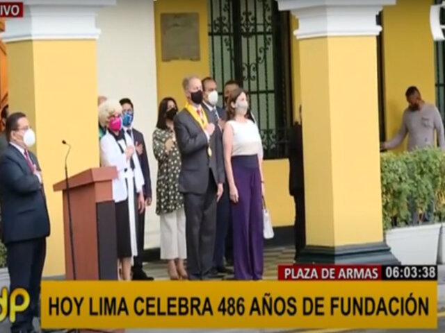 Aniversario de Lima: Jorge Muñoz encabeza ceremonia por 486 años de fundación