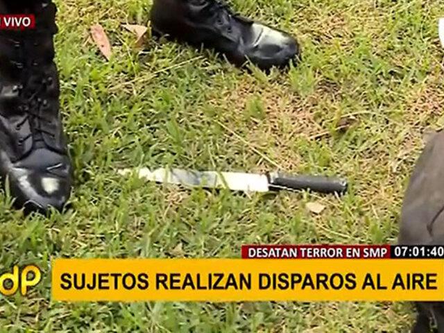 SMP: detienen a sujeto armado con un cuchillo en un parque