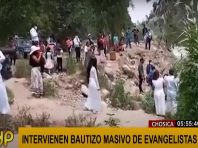 Chosica: intervienen a personas que estaban a punto de participar de bautizo en río Rímac