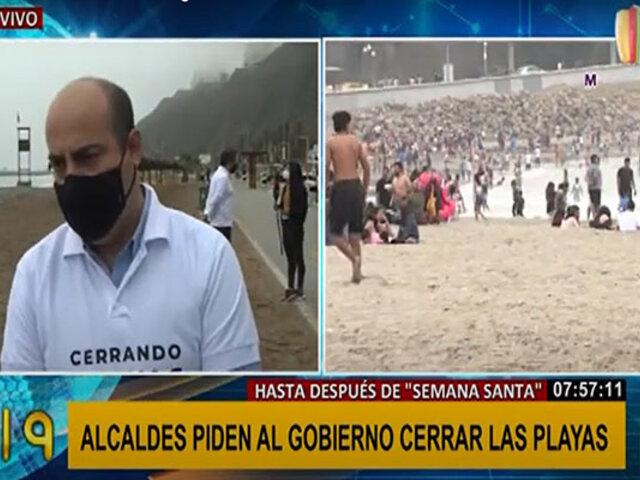 Alcaldes de Lima y Callao solicitan cierre de playas hasta después de Semana Santa