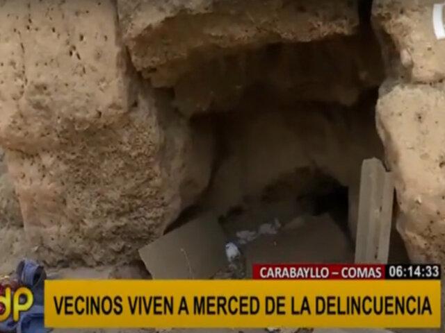 Carabayllo-Comas: Huaca Tungasuca es convertida en refugio de delincuentes