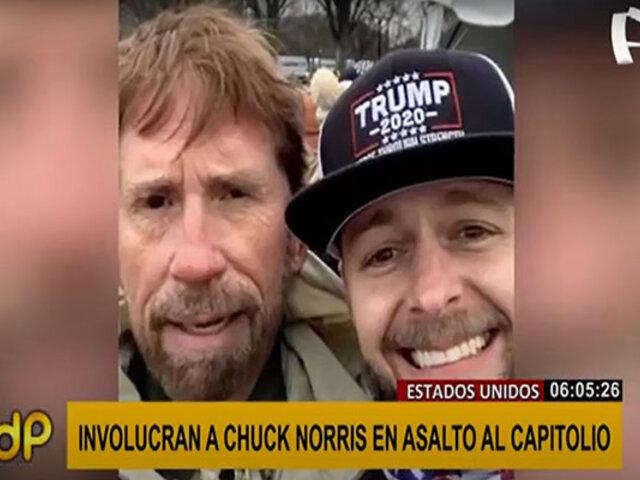 EEUU: ¿Chuck Norris estuvo en violento asalto al Capitolio?