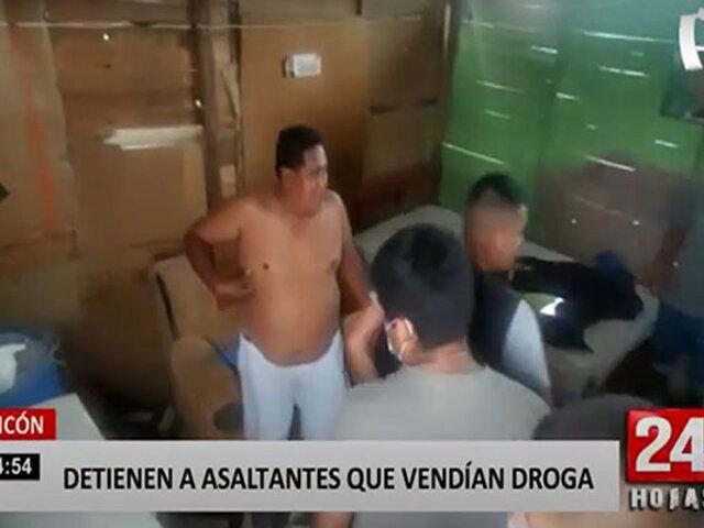 Ancón: policía detiene a banda delincuencial que realizaba robos al paso y vendía droga