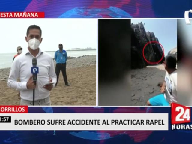 Chorrillos: bombero sufre accidente al practicar rapel