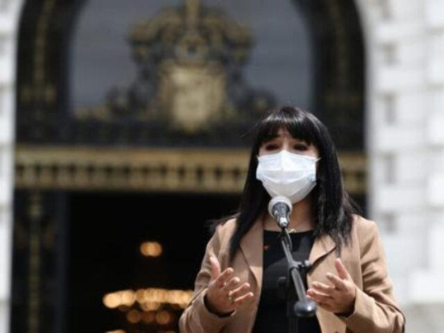 """Mirtha Vásquez: implementación de protocolo para campaña electoral es """"un tema urgente"""""""
