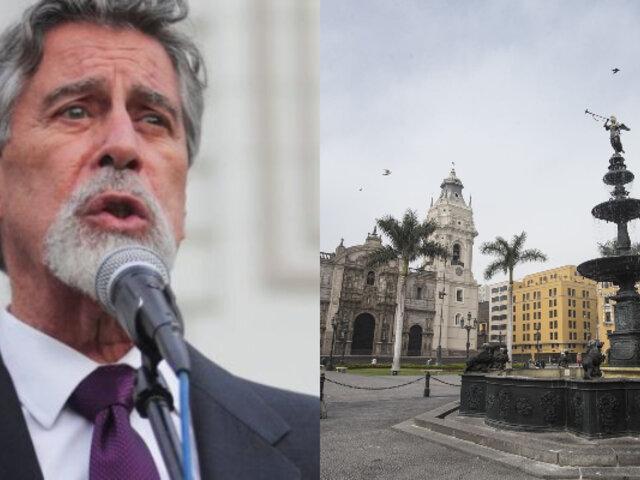 Sagasti sobre aniversario de Lima: debe ser una oportunidad para demostrar nuestra resiliencia