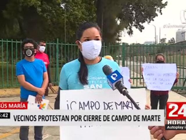 Campo de Marte: denuncian que solo se permite ingreso al parque de personas que pagan