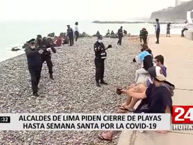 Alcaldes de Lima y Callao proponen a Sagasti el cierre de playas toda la temporada Verano 2021
