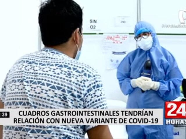 COVID-19: Cuadros gastrointestinales tendrían relación con nueva variante