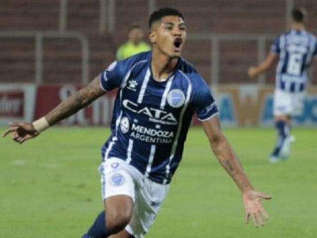 Wilder Cartagena deja Godoy Cruz para jugar en el Deportivo Olmedo