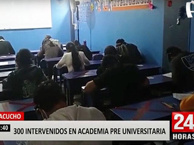 Ayacucho: academia preuniversitaria realizaba clases pese a restricciones por la pandemia