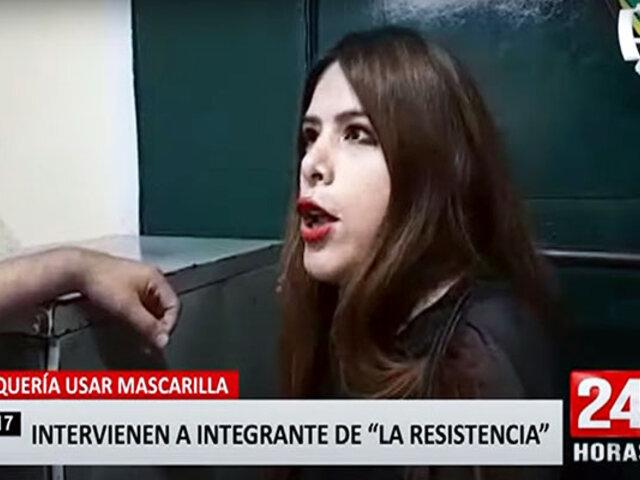 """Mujer termina en la comisaría por negarse a usar mascarilla: """"no entra suficiente aire al cerebro"""""""