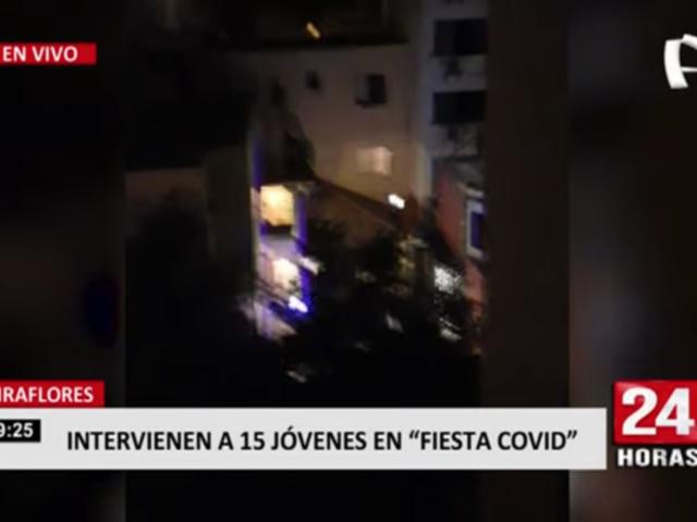 Miraflores: intervienen a 15 jóvenes en 'fiesta COVID'