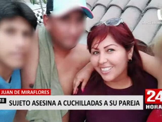 San Juan de Miraflores: sujeto mata a cuchilladas a su pareja dentro de una vivienda