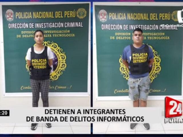 PNP detuvo a jóvenes acusados de sustraer más de 13 mil soles por robo de datos
