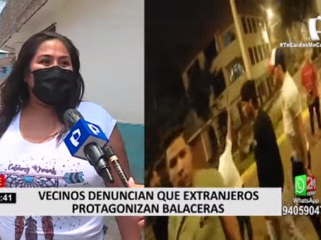 Ate: vecinos atemorizados por extranjeros que realizan disparos al aire