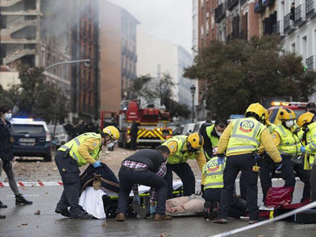 Gran explosión de un edificio en el centro de Madrid deja tres fallecidos