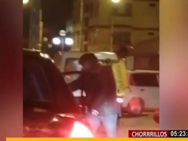 Chorrillos: graban a falso delivery en pleno asalto con arma de fuego