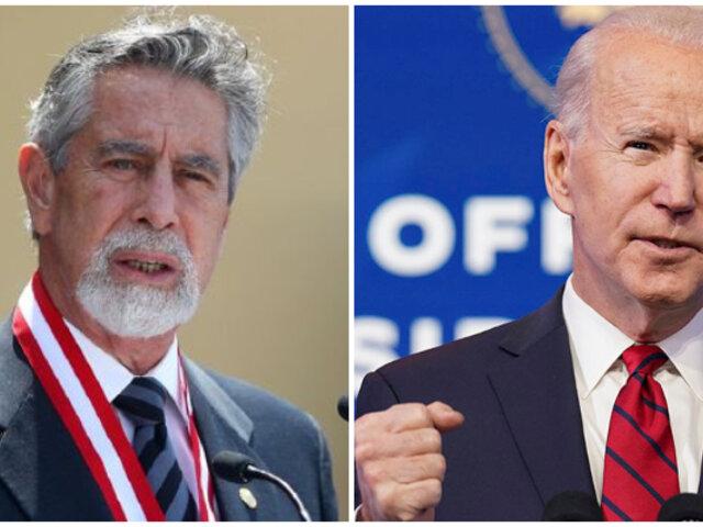 Presidente Sagasti felicita asunción de Joe Biden como presidente de Estados Unidos