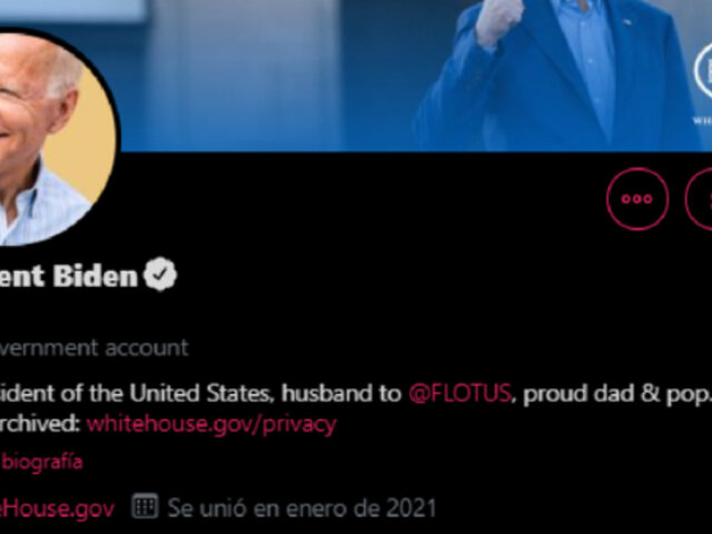 Joe Biden: Twitter entrega cuenta oficial como nuevo presidente de EEUU