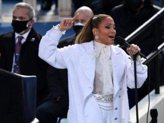 Jennifer Lopez y su mensaje con el que honró a latinos en investidura de Joe Biden