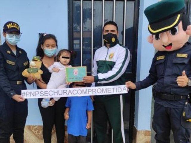 Piura: policías donan dinero a niña que necesitaba ser operada con urgencia