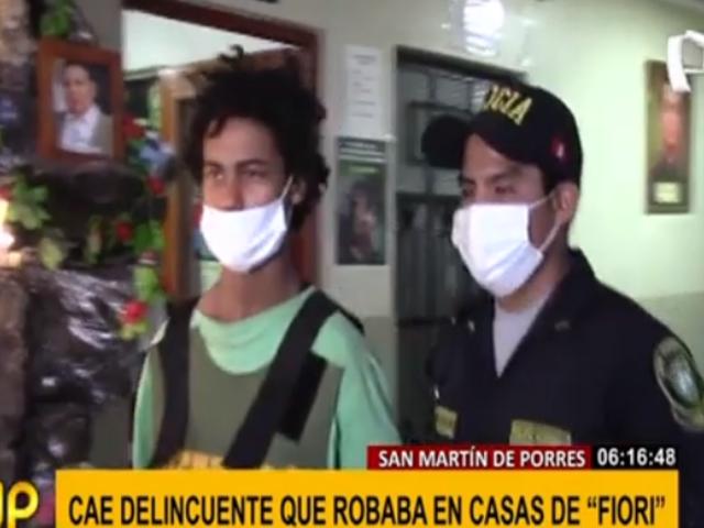 SMP: capturan a integrante de banda de robacasas que trepaba viviendas