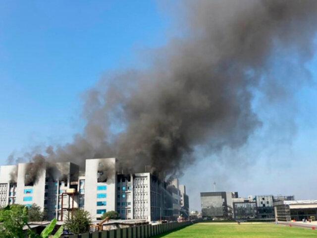 India: se registra incendio en sede del mayor fabricante de vacunas del mundo