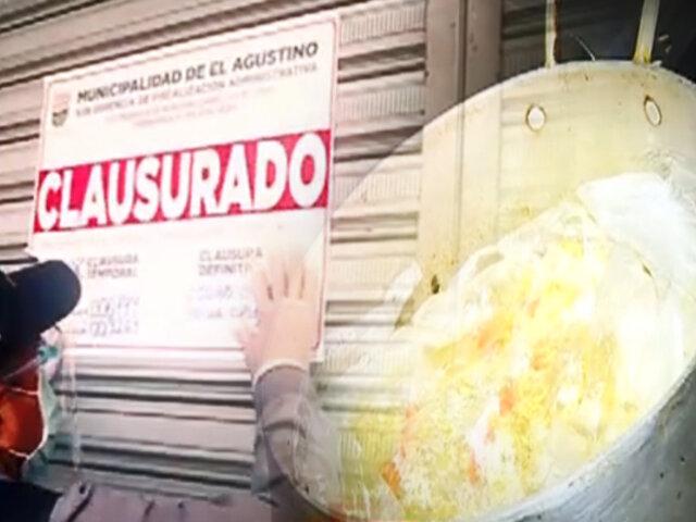 """Clausuran """"restaurantes del terror"""" en El Agustino"""