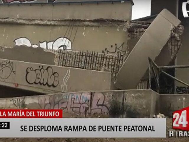 VMT: Línea 1 del Metro de Lima se pronuncia sobre caída de puente peatonal